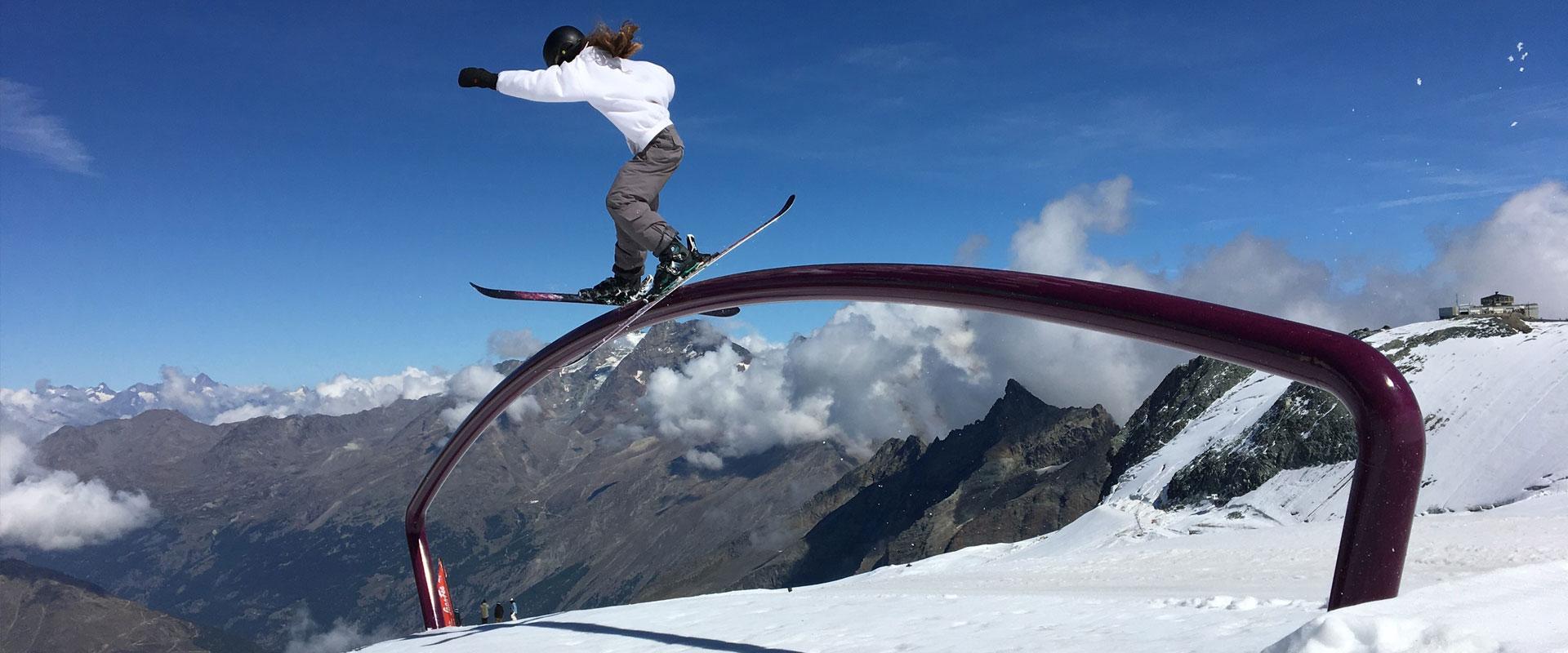 Training in Saas Fee, Switzerland