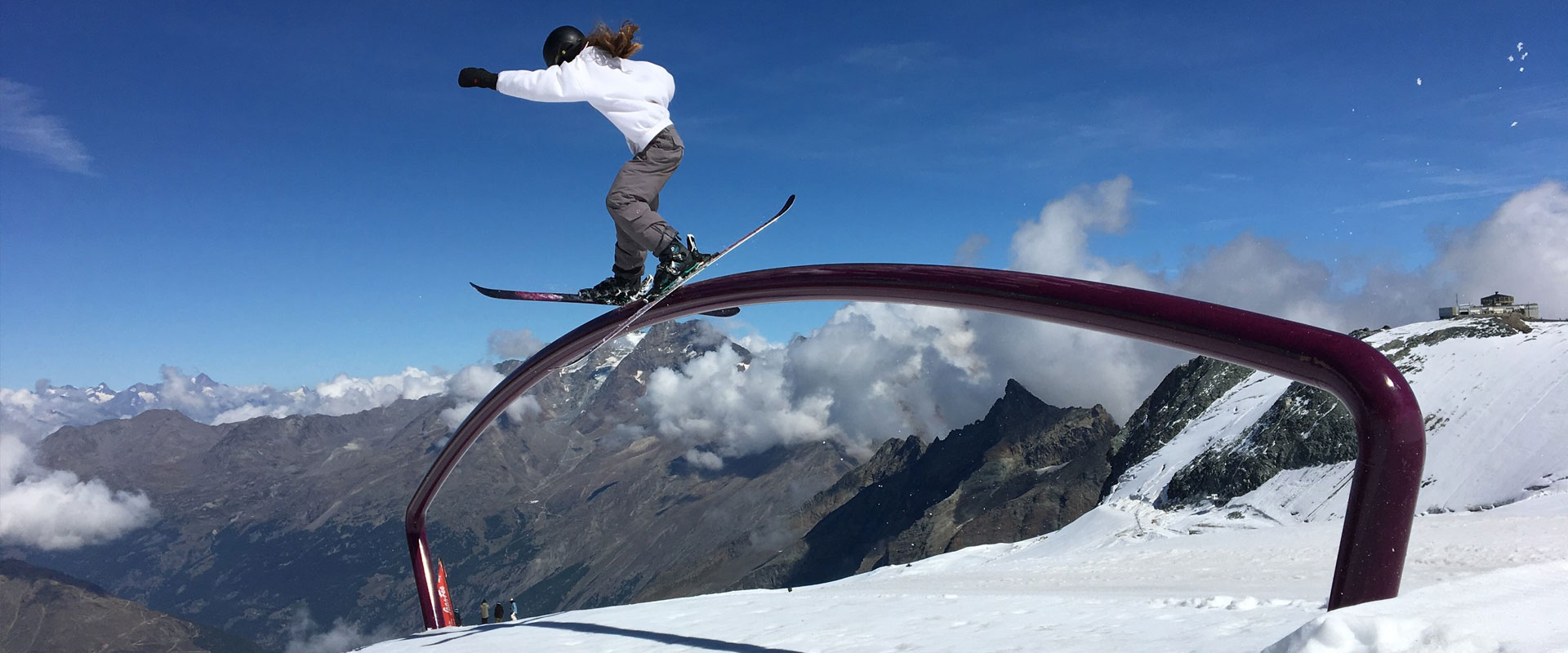 Training in Saas Fee, Switzerland